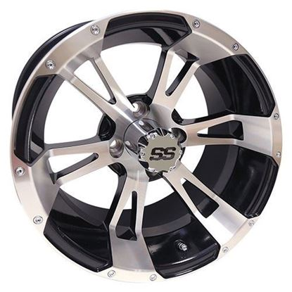 Picture of Wheel, RHOX RX340 Machined with Gloss Black 14x7