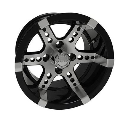 Picture of Wheel, RHOX RX260 Machined with Black 14x7