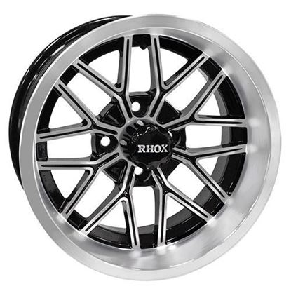 Picture of Wheel, RHOX RX282 Machined with Gloss Black 14x6