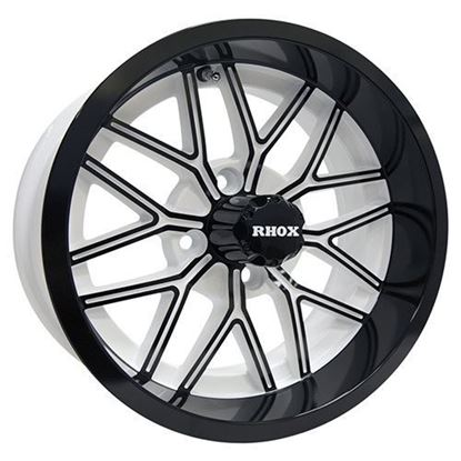 Picture of Wheel, RHOX RX282 Gloss Black with White 14x6