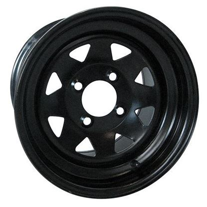 Picture of Wheel, Offset 12x7 Black 8-Spoke Steel