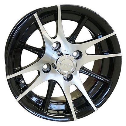 Picture of Wheel, RHOX RX105 12-Spoke Machined with Black 12x6