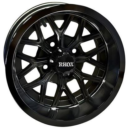 Picture of Wheel, RHOX RX284 Gloss Black 12x6