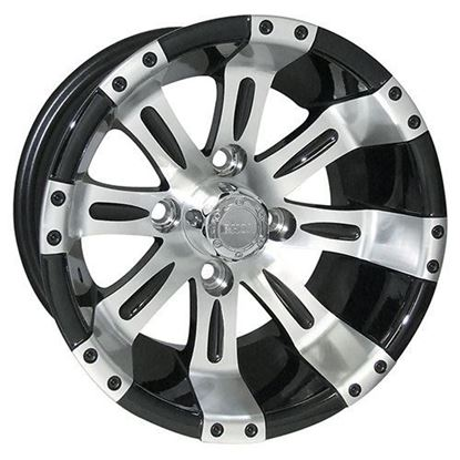 Picture of Wheel, RHOX Vegas Machined with Gloss Black 12x6