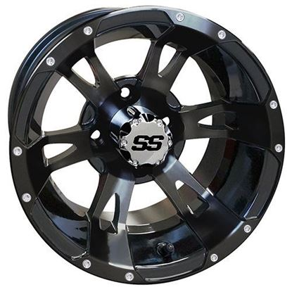 Picture of Wheel, RHOX RX321 Gloss Black 12x7
