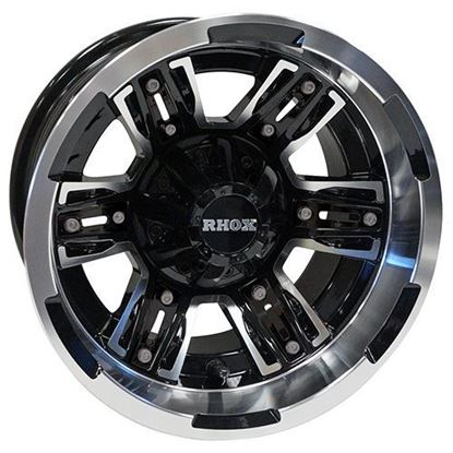 Picture of Wheel, RHOX RX286 Machined with Black 12x7