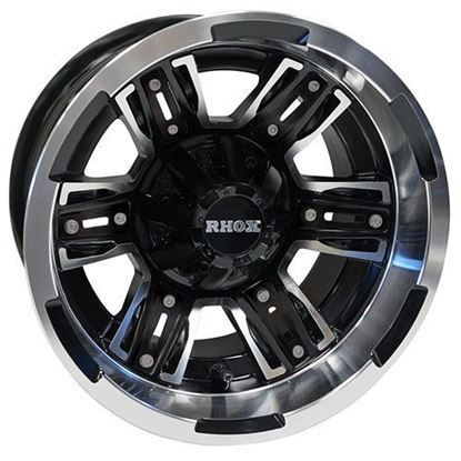 Picture of Wheel, RHOX RX286 Machined Matte Black 12x7