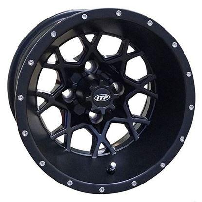 Picture of Wheel, ITP Hurricane Matte Black 12x7