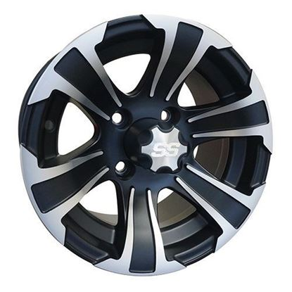 Picture of Wheel, ITP SS312 Machined with Black 12x7