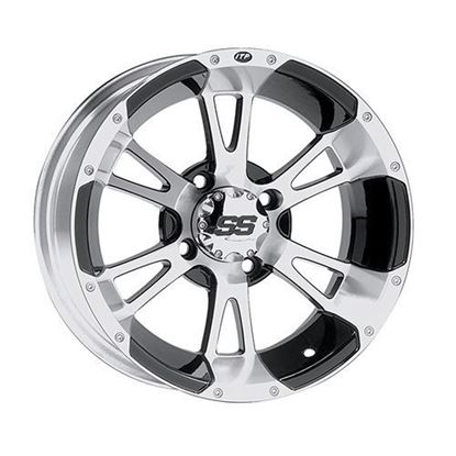 Picture of Wheel, ITP SS112 Machined with Black 12x7