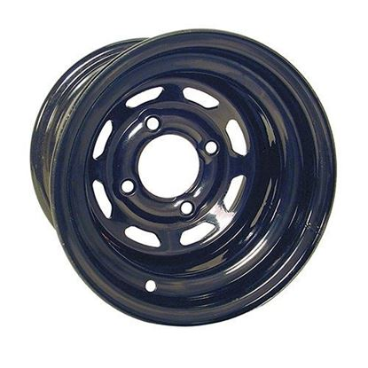 Picture of Wheel, Offset 10x7 Black 8-Window Steel