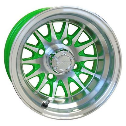 Picture of Wheel, RHOX Phoenix Machined with Green 10x7