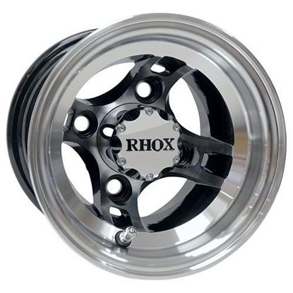 Picture of Wheel, RHOX Brickyard 8x7 4-Spoke Machined with Black