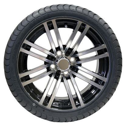 "Picture of Tire/Wheel Assembly, Innova Driver 4 Ply Tire Mounted on 15x6"" AC601 Machined/Black Wheel"