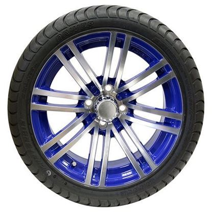 "Picture of Tire/Wheel Assembly, Innova Driver 4 Ply Tire Mounted on 15x6"" AC601 Machined/Blue Wheel"