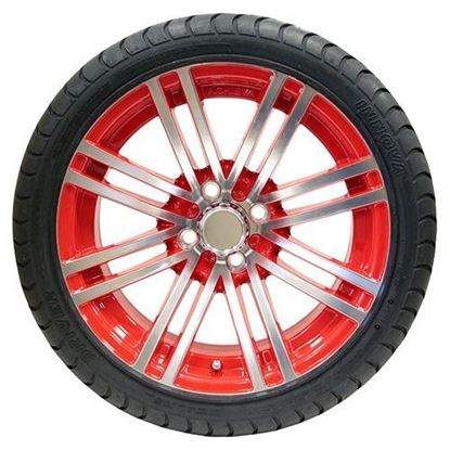 "Picture of Tire/Wheel Assembly, Innova Driver 4 Ply Tire Mounted on 15x6"" AC601 Machined/Red Wheel"