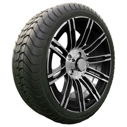 "Picture of Tire/Wheel Assembly, Achieva Low Profile Radial DOT Tire Mounted on 15x6"" AC538 Machined/Black Wheel"
