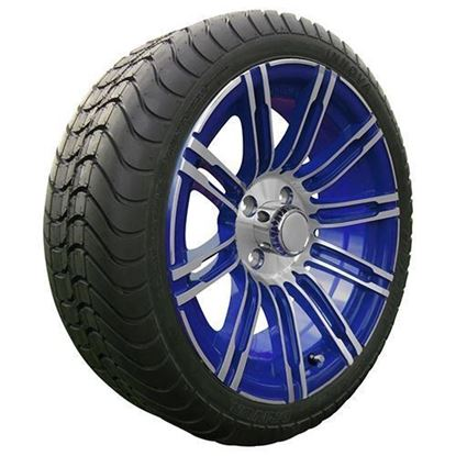 "Picture of Tire/Wheel Assembly, Innova Driver 4 Ply Tire Mounted on 15x6"" AC602 Machined/Blue Wheel"