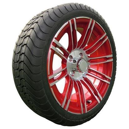 "Picture of Tire/Wheel Assembly, Innova Driver 4 Ply Tire Mounted on 15x6"" AC602 Machined/Red Wheel"