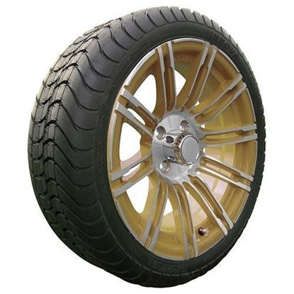 "Picture of Tire/Wheel Assembly, Innova Driver 4 Ply Tire Mounted on 15x6"" AC602 Machined/Gold Wheel"