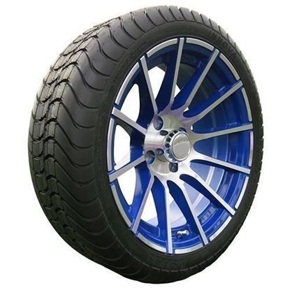 "Picture of Tire/Wheel Assembly, Innova Driver 4 Ply Tire Mounted on 15x6"" AC600 Machined/Blue Wheel"