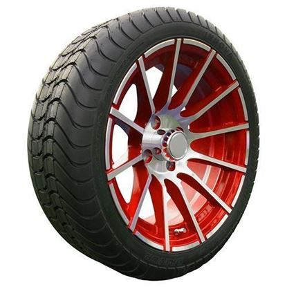 "Picture of Tire/Wheel Assembly, Innova Driver 4 Ply Tire Mounted on 15x6"" AC600 Machined/Red Wheel"