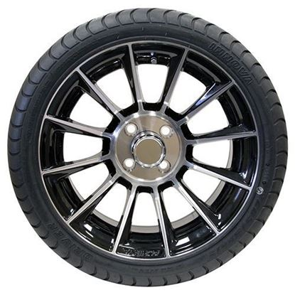 "Picture of Tire/Wheel Assembly, Innova Driver 4 Ply Tire Mounted on 15x6"" AC603 Machined/Black Wheel"