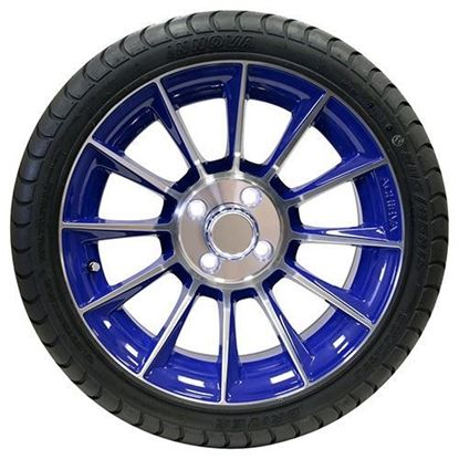 "Picture of Tire/Wheel Assembly, Innova Driver 4 Ply Tire Mounted on 15x6"" AC603 Machined/Blue Wheel"