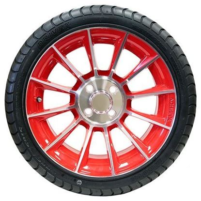 "Picture of Tire/Wheel Assembly, Innova Driver 4 Ply Tire Mounted on 15x6"" AC603 Machined/Red Wheel"