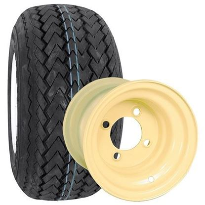 "Picture of Tire/Wheel Assembly, Kenda Hole-In-One Tire Mounted on 8"" Steel Beige Wheel"