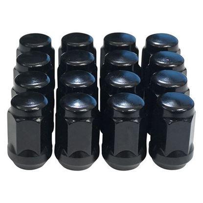 Picture of Standard Gloss Black Lug Nut (Set of 16) for Club Car & E-Z-Go Wheels