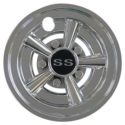 "Picture of 8"" RHOX SS Muscle Car Chrome Wheel Cover"