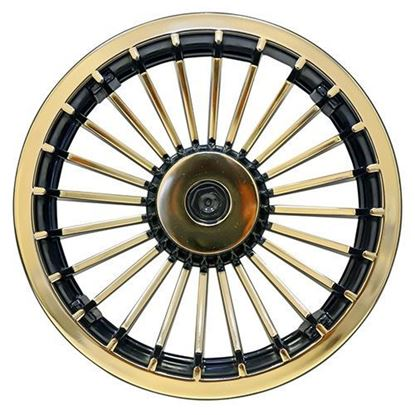 "Picture of 8"" Turbine Gold and Black Wheel Cover"