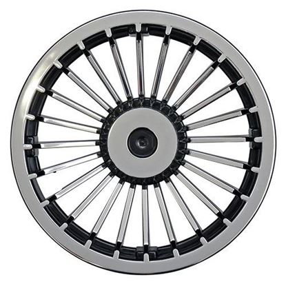 "Picture of 8"" Turbine Chrome and Black Wheel Cover"