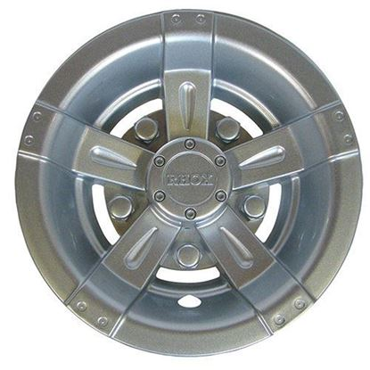 "Picture of 8"" RHOX Vegas Silver Metallic Wheel Cover"