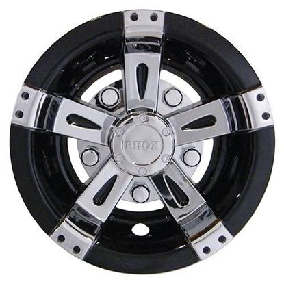 "Picture of 8"" RHOX Vegas Black and Chrome Wheel Cover"