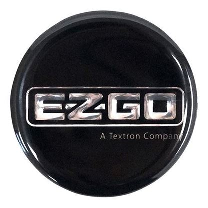 Picture of E-Z-Go TXT 2000+/ST350 1996+ Replacement Steering Wheel Emblem/Label