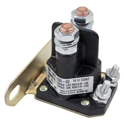 Picture of Solenoid, 12V-14V 4 Terminal Silver, E-Z-Go Medalist/TXT 4-cycle Gas 1994-Up