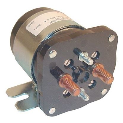 Picture of Solenoid, 48V 4 Terminal Silver, Yamaha Electric G19/G22