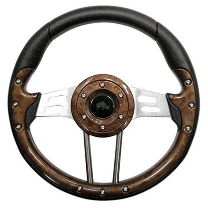 "Picture of 13"" Aviator 4 Steering Wheel - Woodgrain"