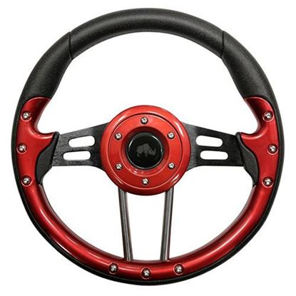 "Picture of 13"" Aviator 4 Steering Wheel - Red"