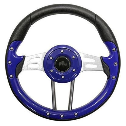 "Picture of 13"" Aviator 4 Steering Wheel - Blue"