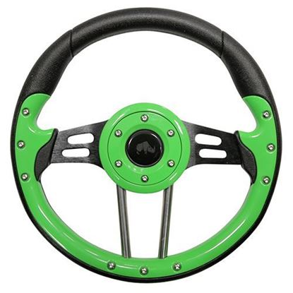 "Picture of 13"" Aviator 4 Steering Wheel - Lime Green"