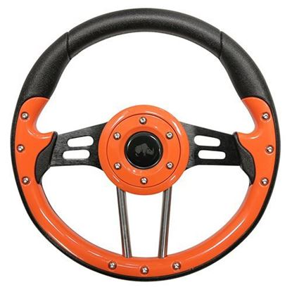 "Picture of 13"" Aviator 4 Steering Wheel - Orange"