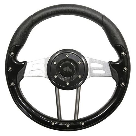 "Picture of 13"" Aviator 4 Steering Wheel - Black"