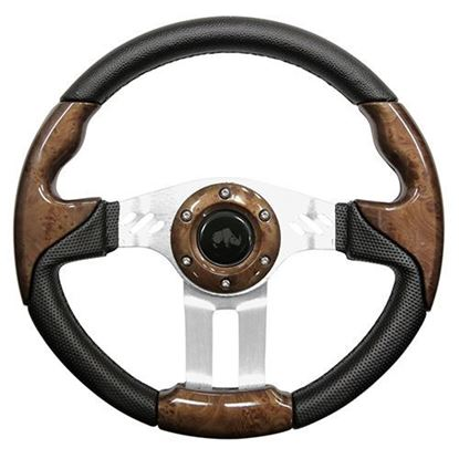 Picture of Woodgrain Aviator 5 Steering Wheel