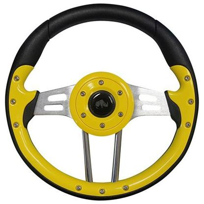 "Picture of 13"" Aviator 4 Steering Wheel - Yellow"