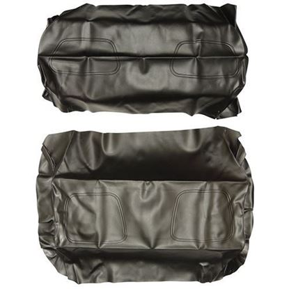 Picture of Cover Set, Black Vinyl, for Club Car DS 700 Series Rear Seats