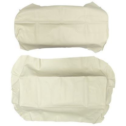 Picture of Cover Set, White Vinyl, for Club Car DS 700 Series Rear Seats