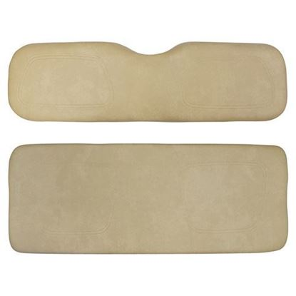 Picture of Cushion Set, Tan Vinyl, Universal Board, for Club Car DS 600 Series Rear Seats